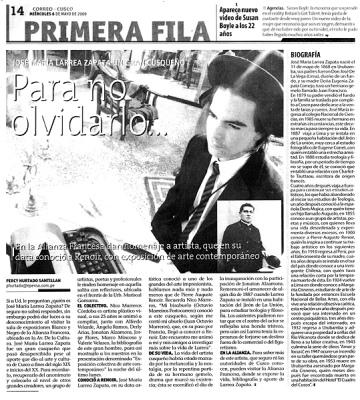 Nota publicada en un diario local - Papaico
